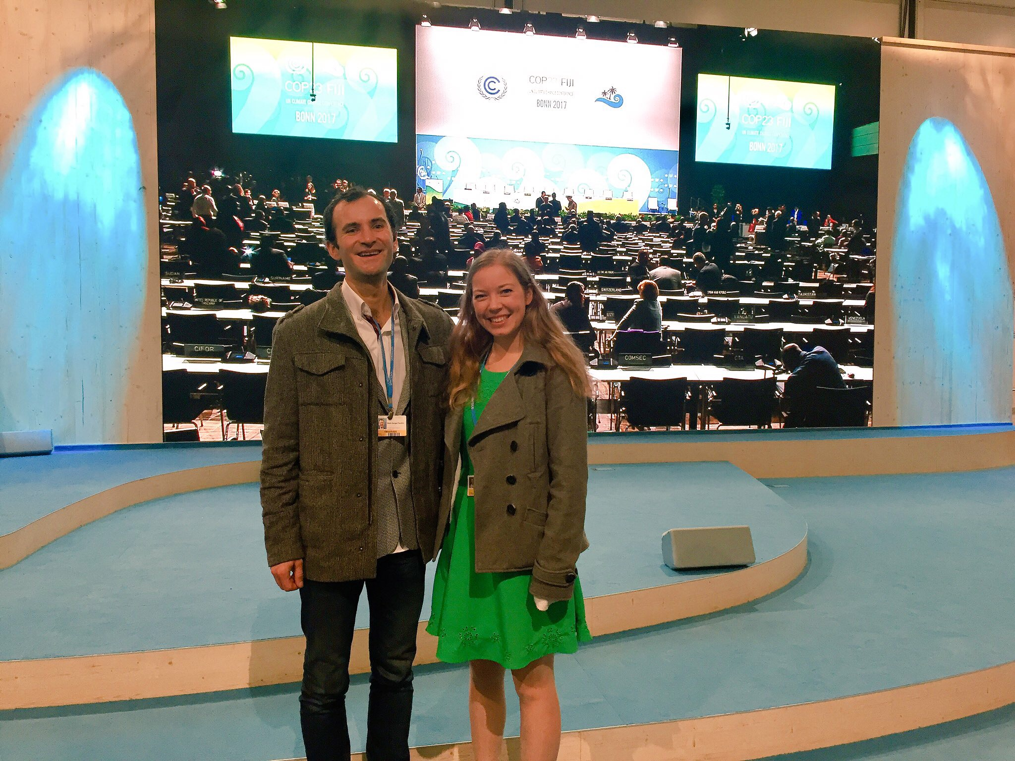 Mark Pershin and Alice Vodden at COP23